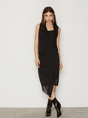 River Island Wrap Front Dress Black