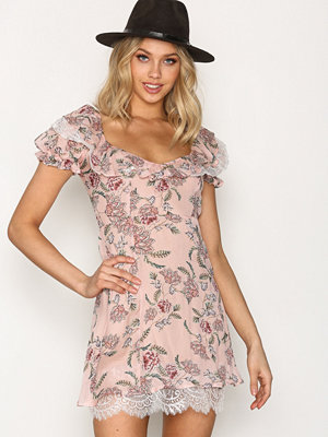 For Love & Lemons Bee Balm Mini Dress Pink