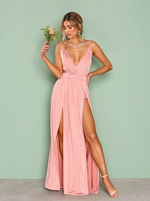NLY One Double Slit Maxi Dress Rose