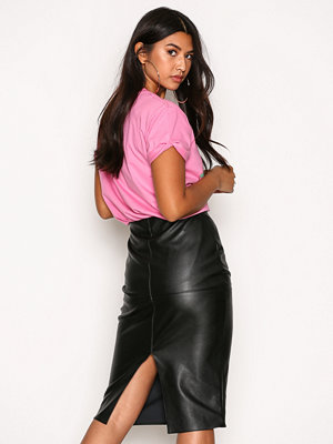 River Island Faux Leather Panel Pencil Skirt Black