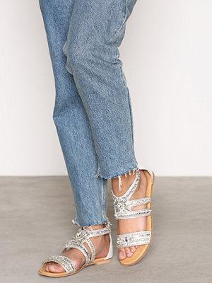 Sandaler & sandaletter - River Island Embellished Multi Strap Sandals White