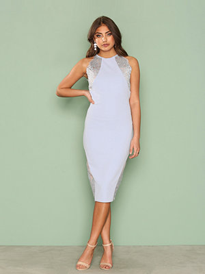 River Island Lace Insert Dress Light Blue