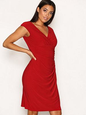 Lauren Ralph Lauren Adara Cap Sleeve Dress Red