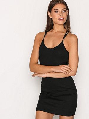 Topshop Strappy Back Mini Dress Black