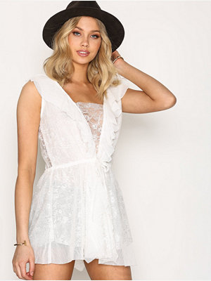 For Love & Lemons Stardust Lace Dress White
