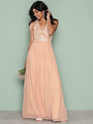 Ax Paris SL Maxi Dress Light Beige