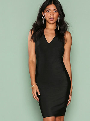 Wow Couture Strap Detail Back Bodycon Dress Black