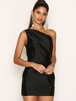 Missguided Ruffle One Shoulder Bodycon Dress Black