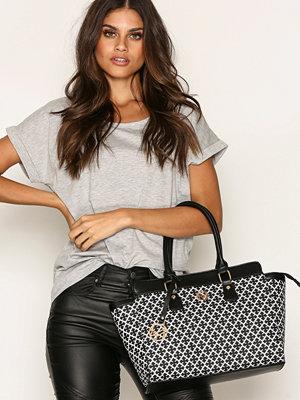 Handväskor - NYPD Handbag London Svart/Vit