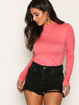 NLY Trend Feeling Free Polo Top Desert Rose