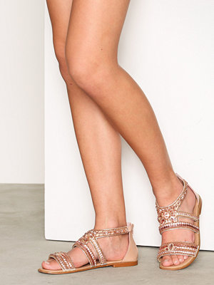 Sandaler & sandaletter - River Island Embellished Multi Strap Sandals Rose Gold