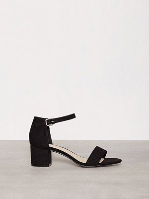 NLY Shoes Low Block Heel Sandal Svart