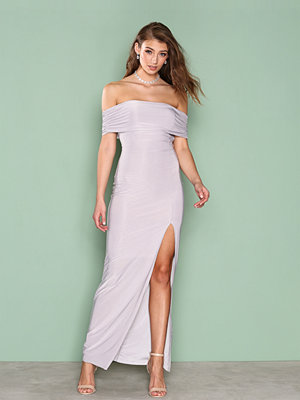Ax Paris Bardot Maxi Dress Grey