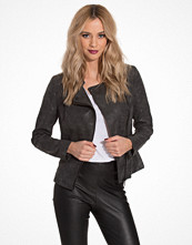 Skinnjackor - Only onlAVA Faux Leather Biker Otw Noos