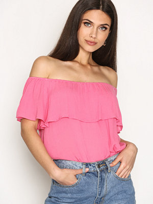 NLY Trend Summer Frill Top Rosa