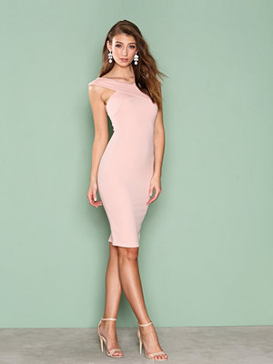 Ax Paris Cross Over Bodycon Dress Pink