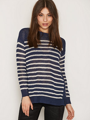 Polo Ralph Lauren Boatneck Side Slit Sweater Navy/Cream