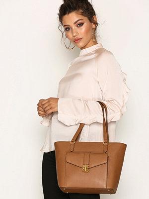 Handväskor - Lauren Ralph Lauren Evonne Shopper Brun