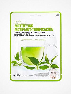 Ansikte - Kiss Professional New York Mattifying Sheet Mask Green Tea