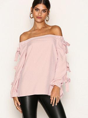 River Island LS Bardot Ties Top Pink