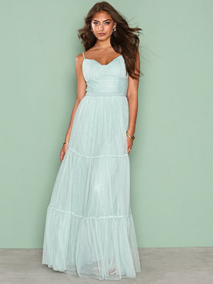 Little Mistress Mesh Maxi Dress Sage