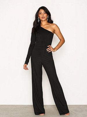 Jumpsuits & playsuits - NLY One One Shoulder Jumpsuit Svart