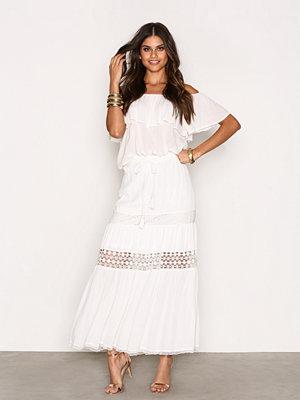 River Island Maxi Skirt White