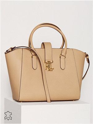 Handväskor - Lauren Ralph Lauren Bethany Shopper Camel