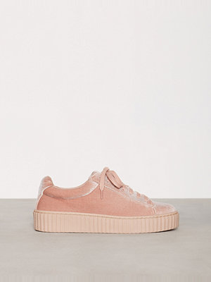 NLY Shoes Velvet Rubber Sole Sneaker Dusty Pink