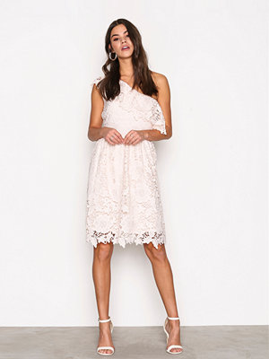 Vero Moda Vmthus One Shoulder Lace Dress Nfs Ljus Rosa