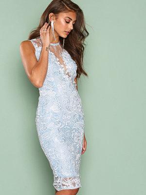 Ax Paris Dreamy Lace Dress Light Blue