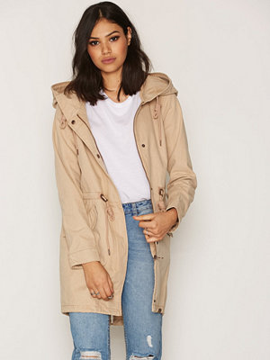 Only onlFAVOURITE Canvas Parka Coat Otw Brun