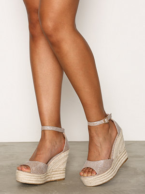 NLY Shoes Glitter Wedge Sandal
