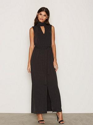 Selected Femme Sfholly Sl Maxi Dress Svart