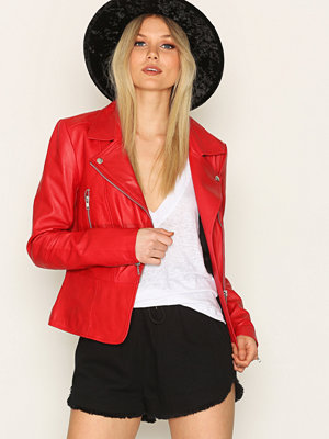Y.a.s Yasayo Leather Jacket Mörk Röd