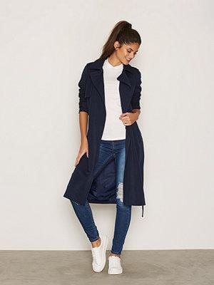 Trenchcoats - Vero Moda Vmexport New Long Jacket A Mörk Blå