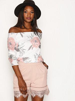 Vero Moda Vmbella N/W Lace Shorts Ljus Rosa