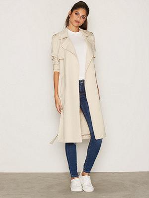 Vero Moda Vmexport New Long Jacket A Beige