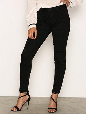 Jacqueline de Yong Jdyskinny Reg. Ulle Black Jeans Dnm Svart