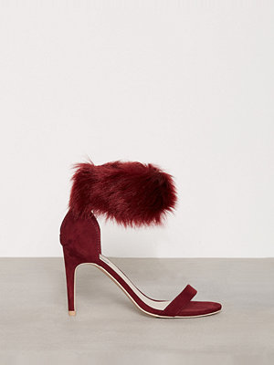 NLY Shoes Cuff Heel Sandal Burgundy