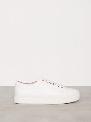 Topshop Flatform Lace Up Trainers White
