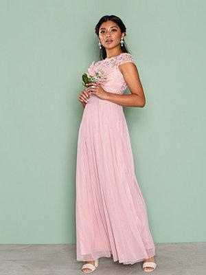 Vila Viulricana S/S Maxi Dress/2 Ljus Rosa