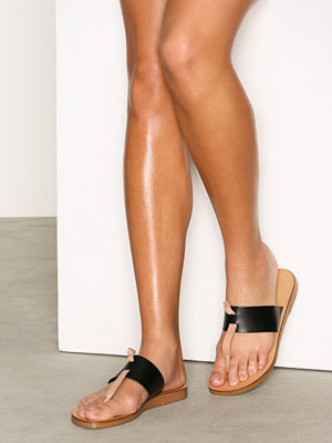 Sandaler & sandaletter - Pieces Pscallie Leather Sandal Black Svart