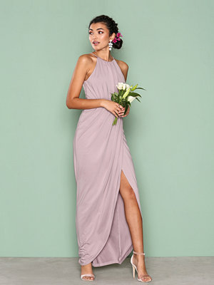 NLY Eve Drapy Slit Gown Beige