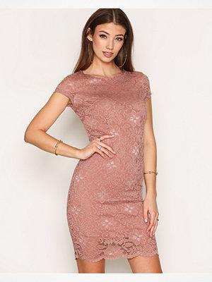 Selected Femme Sfcharlotte Cap Lace Dress Ljus Brun
