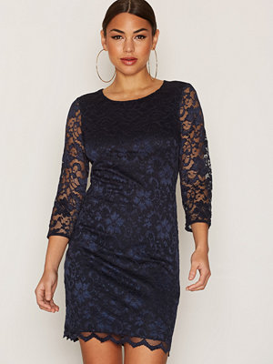 Only onlNICE Lace Dress Back Open 3/4 Wv Mörk Blå