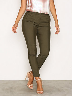Selected Femme omönstrade byxor Sfmuse Cropped Mw Pant Noos - Grape Grön