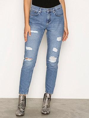 Vero Moda Vmashley Nw Cigarette Ankle Jeans Blå