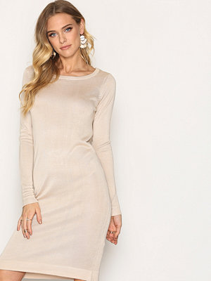 Vero Moda New Vmtangle Ls Boatneck Dress A Cream