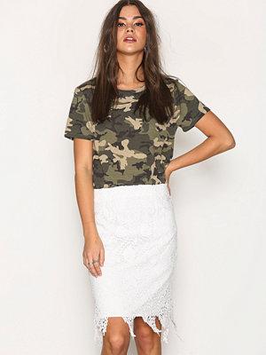 Vero Moda Vmflora Hw Lace Skirt Vit